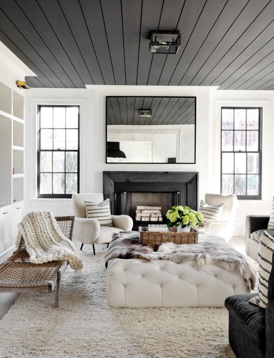 Light It Up | Beautifully Contrasted Painted Ceilings : Anne Hepfer ...