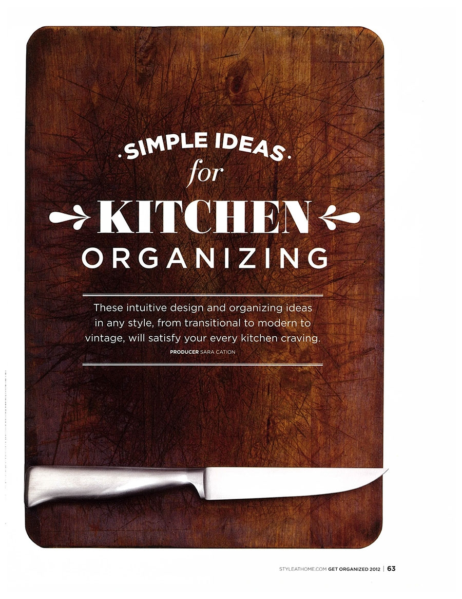 Simple Ideas For Kitchen Organizing