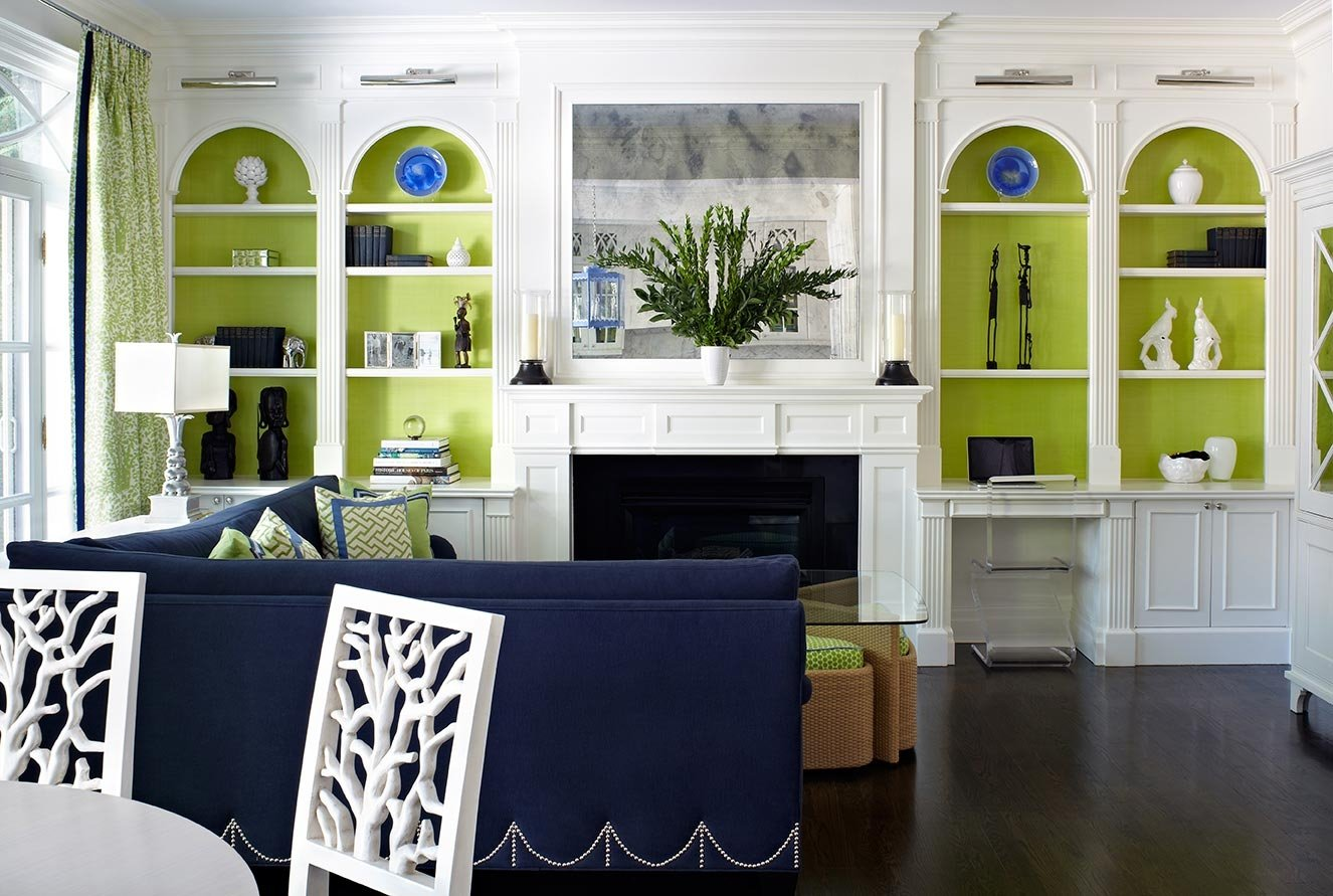 Green And Blue Living Room Home Design