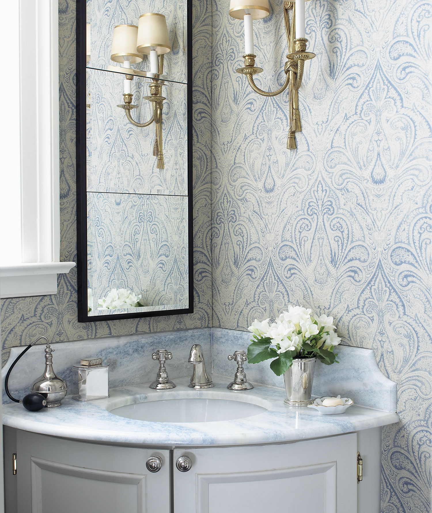 Commercial ostrich skin furniture modern designs for Blue and gold bathroom ideas